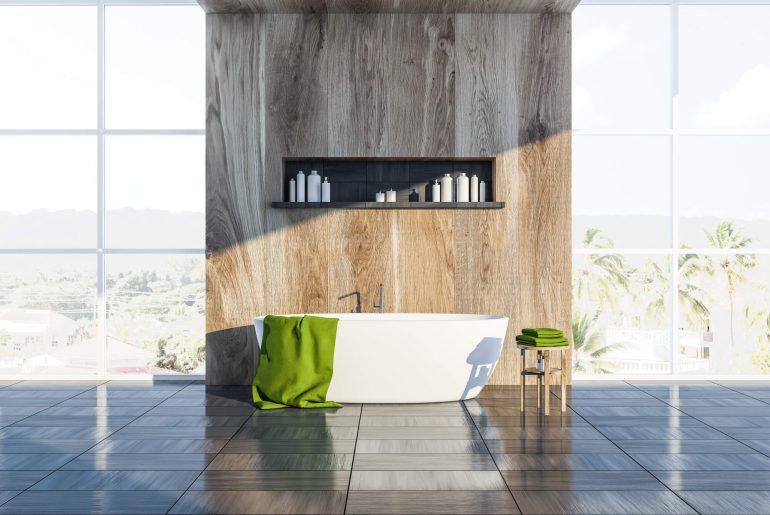 Decoração de banheiro: como usar os nichos de porcelanato